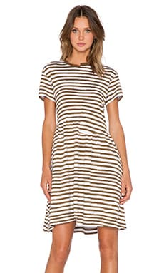 Marc by Marc Jacobs Stripe Tee Dress in Olive Green Multi