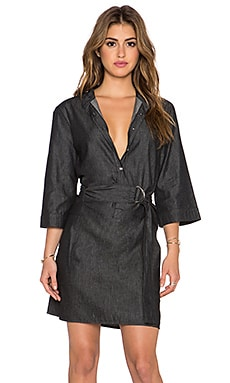 Marc by Marc Jacobs Cotton Silk Denim Dress in Black Back