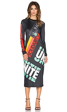 Marc by Marc Jacobs United Future Midi Dress in Black Multi