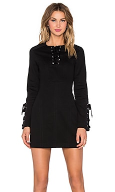 Marc by Marc Jacobs Tie Front Long Sleeve Dress in Black