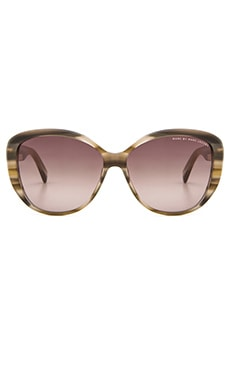 Marc by Marc Jacobs Sunglasses in Striped Beige & Brown Gradient
