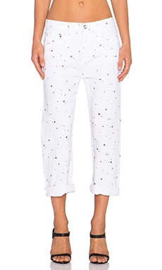 Marc by Marc Jacobs Annie Boyfriend Crop Jean in Splash Dot White