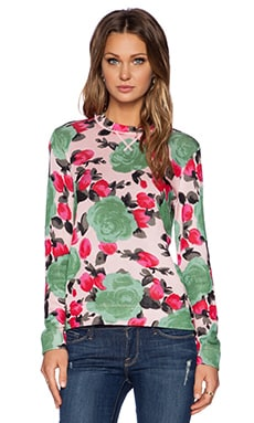 Marc by Marc Jacobs Jerrie Rose Printed Sweater in Desert Rose Multi
