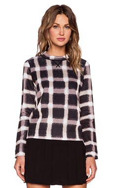 Marc by Marc Jacobs Blurred Gingham Sweater in Black Multi