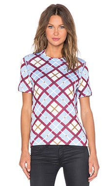 Marc by Marc Jacobs Diagonal Plaid Sweater in Robin Blue Multi