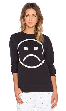 Marc by Marc Jacobs Sad Face Sweatshirt in Black Multi
