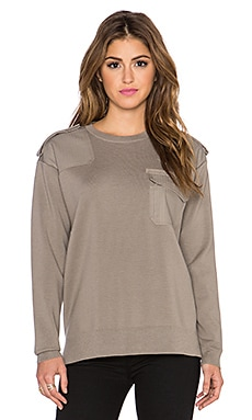 Marc by Marc Jacobs Compact Wool Sweater in Granite