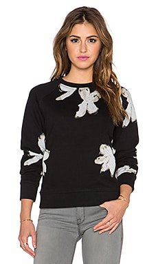 Marc by Marc Jacobs Painted Flower Sweatshirt in Black Multi