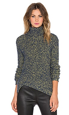 Marc by Marc Jacobs Thermal Turtleneck Sweater in Sulphur Multi