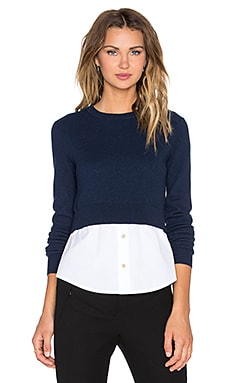 Marc by Marc Jacobs Crew Neck Sweater in Bright Navy Multi
