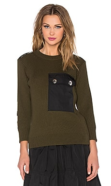 Marc by Marc Jacobs Military Leopard Sweater in Deep Army Green Multi
