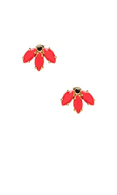 Read My Palmz Marquis Palm Studs in Infrared & Oro