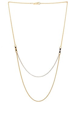 Marc by Marc Jacobs All Tied Up Draped Bow Tie Necklace in Oro Multi