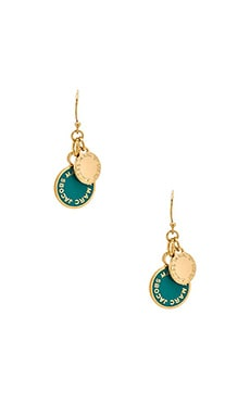 Marc by Marc Jacobs Classic Marc Enamel Discs Earrings in Wintergreen