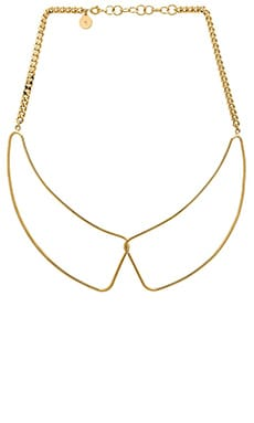 Marc by Marc Jacobs Locked In Orbit Foil Gem Collar in Oro