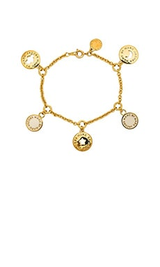 Marc by Marc Jacobs New Classic Marc Cosmic Coins Bracelet in Cream