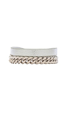 Marc by Marc Jacobs Starry Sky Leather Bracelet in Silver