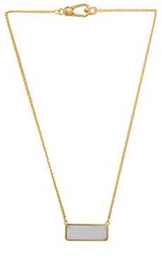 Marc by Marc Jacobs Link To Katie ID Plaque Necklace in Oro Multi