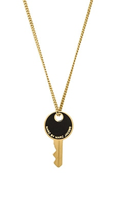 Marc by Marc Jacobs Enamel Key Necklace in Black
