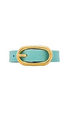 Marc by Marc Jacobs Reversible Buckle Up Bracelet in Sea Aqua