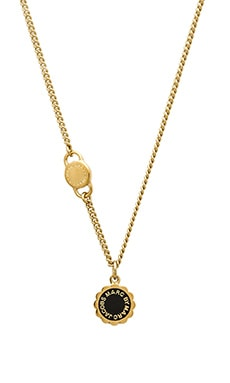 Marc by Marc Jacobs Scalloped Disc-O Necklace in Black