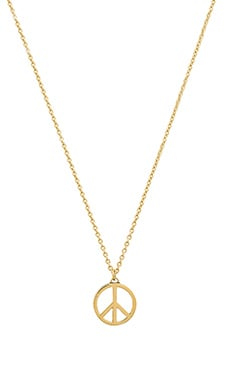 Marc by Marc Jacobs Large Peace Sign Necklace in Black