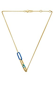 Marc by Marc Jacobs Bubble Chain Necklace in Conch Blue Multi