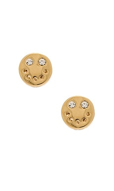 Marc by Marc Jacobs Smiley Stud Earrings in Oro