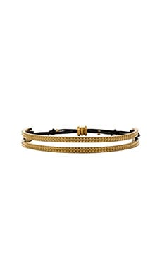 Marc by Marc Jacobs Textured Friendship Bracelet in Black