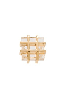 Marc by Marc Jacobs Kandi Cage Ring in Clear