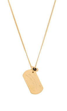 Marc by Marc Jacobs Ouija Board Necklace in Oro
