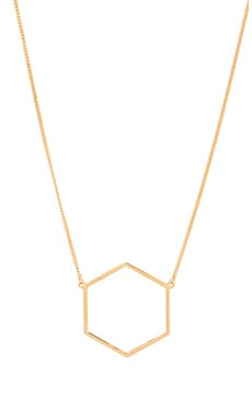 Marc by Marc Jacobs Hexagon Necklace in Oro