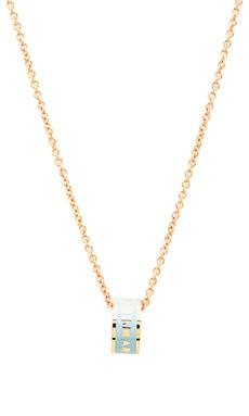 Marc by Marc Jacobs Logo Donut Pendant in Sea Aqua