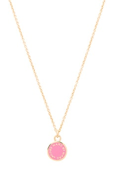 Marc by Marc Jacobs Enamel Disc Pendant in Knock Out Pink