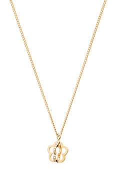 Marc by Marc Jacobs Revolving Daisy Pendant in Crystal & Oro