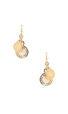 Marc by Marc Jacobs Enamel Disc-O Earrings in Talc
