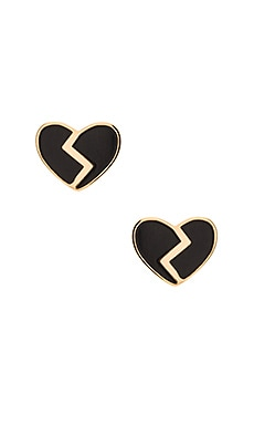 Marc by Marc Jacobs Enamel Broken Hearted Studs in Black