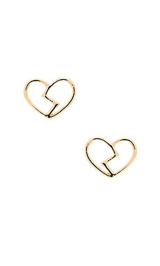 Marc by Marc Jacobs Broken Hearted Studs in Oro