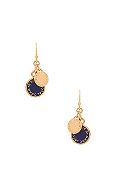Marc by Marc Jacobs Logo Disc-O Enamel Disc Earrings in Sapphire