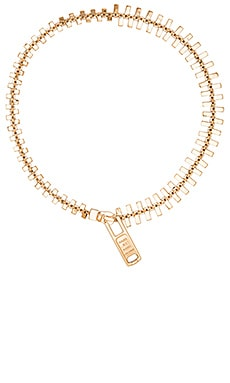Marc by Marc Jacobs Lost & Found Zipper Necklace in Oro