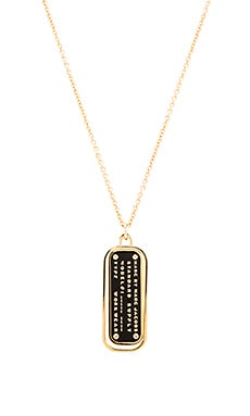 Marc by Marc Jacobs Standard Supply Enamel Pendant Necklace in Black