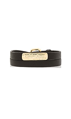 Marc by Marc Jacobs Standard Supply Leather Bracelet in Black
