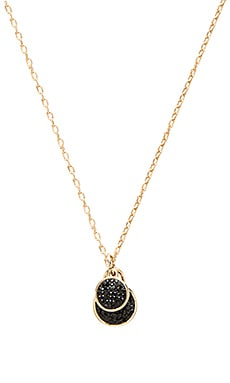 Marc by Marc Jacobs Pave Disc Pendant in Black