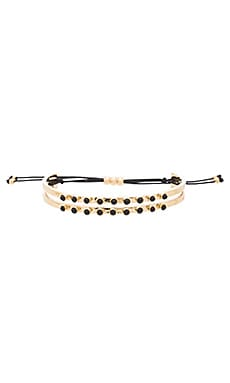 Marc by Marc Jacobs Dainty Cabochon Cinch Bracelet in Black