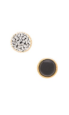 Marc by Marc Jacobs Pave Cabochon Magnetic Studs in Black Multi
