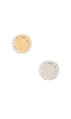 Marc by Marc Jacobs Logo Disc Studs in Oro Multi