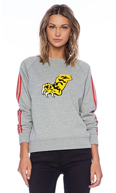 Marc by Marc Jacobs Peyton French Terry Sweatshirt in Grey Melange Multi