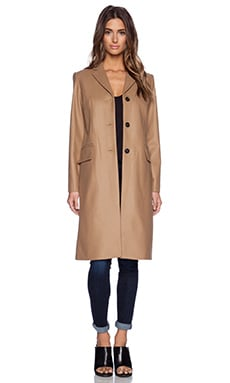 Marc by Marc Jacobs Hiro Felt Coat in Teakwood Brown