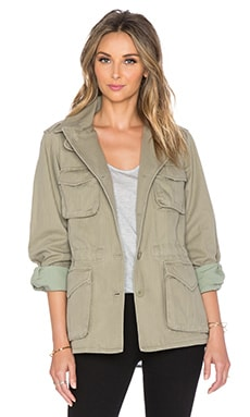 Marc by Marc Jacobs Greenwich Army Cotton Jacket in Safari