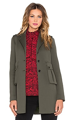 Marc by Marc Jacobs Double Pocket Peacoat in Kelp Green